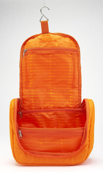 La Poche Travel Toiletry Organiser Bag | Orange - Jetsettr.com.au - 4