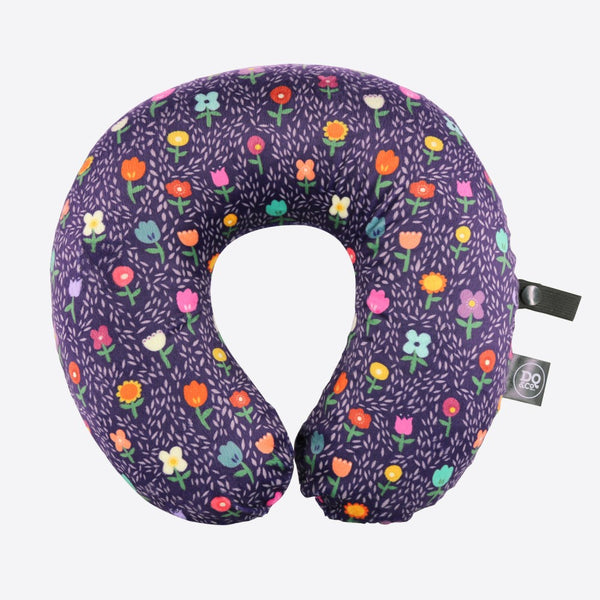 DQ Co. Memory Foam Travel Pillow: Night Garden - Jetsettr.com.au