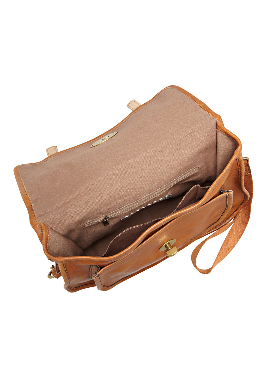 Fossil Vintage Re-Issue II Messenger: Tan - Jetsettr.com.au - 1