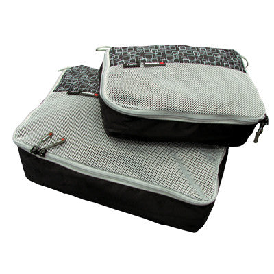 Caribee Packing Cubes | Packing Cells (Set of 2) (27x19x8cm & 38x26x12cm) - Jetsettr.com.au