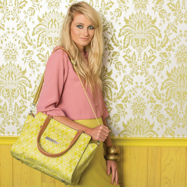 Petunia Pickle Bottom Statement Satchel - Electric Citrus - Jetsettr.com.au - 1