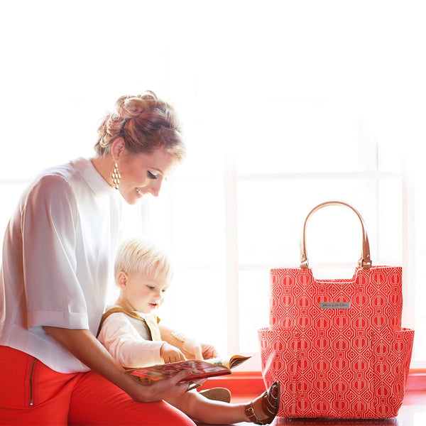 Petunia Pickle Bottom Tailored Tote - Paprika - Jetsettr.com.au - 3