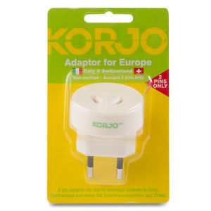 Korjo Travel Adaptor Australia > Italy & Switzerland - Jetsettr.com.au - 3