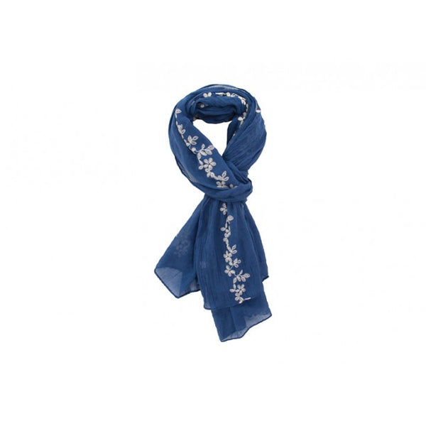 Annabel Trends Claire Scarf: Navy - Jetsettr.com.au