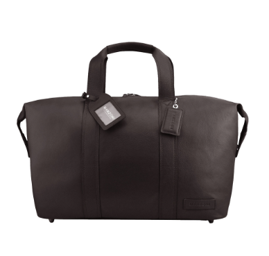 Manzoni Leather Overnighter Bag: Brown - Jetsettr.com.au - 1