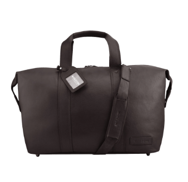 Manzoni Leather Overnighter Bag: Brown - Jetsettr.com.au - 2