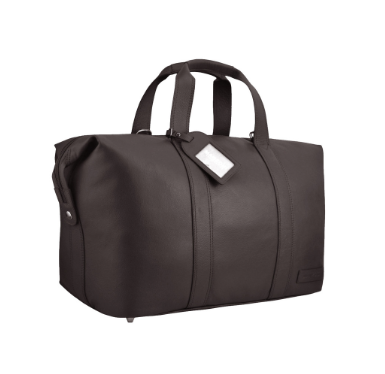 Manzoni Leather Overnighter Bag: Brown - Jetsettr.com.au - 3