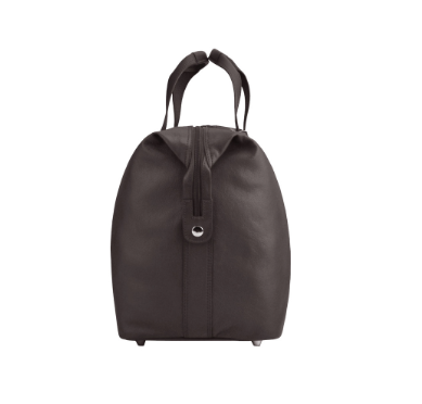 Manzoni Leather Overnighter Bag: Brown - Jetsettr.com.au - 4
