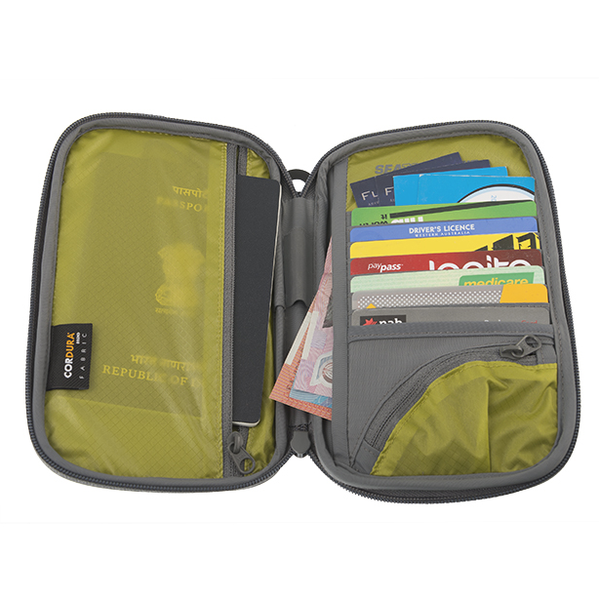 Sea To Summit TravellingLight RFID Passport Wallet: Black/Grey - Jetsettr.com.au - 2