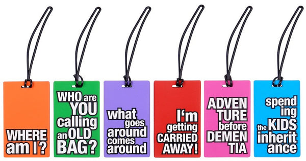 AT Travel Senior Moments Luggage Tag: Adventure Before Dementia - Jetsettr.com.au - 3