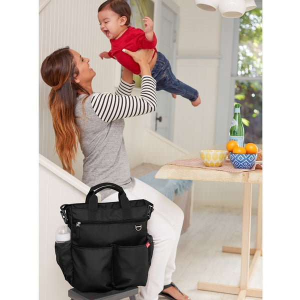 Skip Hop Duo Signature Nappy Bag: Black - Jetsettr.com.au - 5