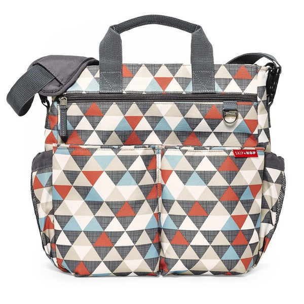 Skip Hop Duo Signature Nappy Bag: Triangles - Jetsettr.com.au - 1