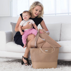 Skip Hop Duet 2-in-1 Tote Nappy Bag: Taupe - Jetsettr.com.au - 14