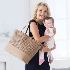 Skip Hop Duet 2-in-1 Tote Nappy Bag: Taupe - Jetsettr.com.au - 15