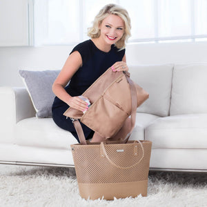 Skip Hop Duet 2-in-1 Tote Nappy Bag: Taupe - Jetsettr.com.au - 16