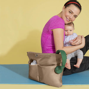 Skip Hop Duet 2-in-1 Tote Nappy Bag: Taupe - Jetsettr.com.au - 17