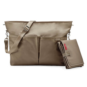 Skip Hop Duet 2-in-1 Tote Nappy Bag: Taupe - Jetsettr.com.au - 3