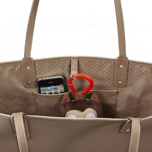 Skip Hop Duet 2-in-1 Tote Nappy Bag: Taupe - Jetsettr.com.au - 8