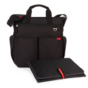Skip Hop Duo Signature Nappy Bag: Black - Jetsettr.com.au - 2