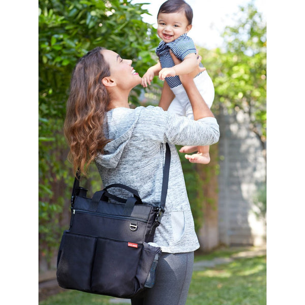Skip Hop Duo Signature Nappy Bag: Black - Jetsettr.com.au - 6