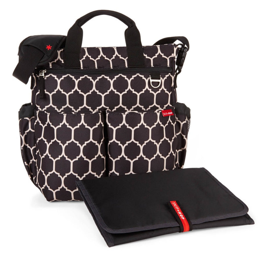 Skip Hop Duo Signature Nappy Bag: Onyx Tile - Jetsettr.com.au - 1