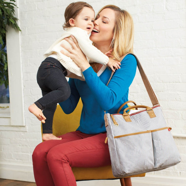 Skip Hop Duo Special Edition Nappy Bag: French Stripe - Jetsettr.com.au - 9