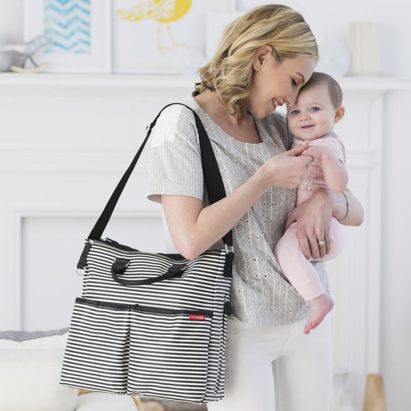 Skip Hop Duo Special Edition Nappy Bag: Black Stripe - Jetsettr.com.au - 7