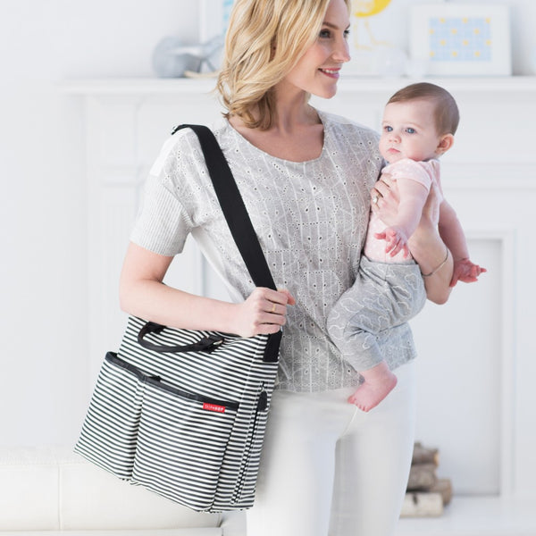 Skip Hop Duo Special Edition Nappy Bag: Black Stripe - Jetsettr.com.au - 6