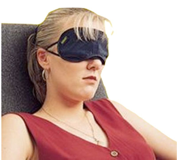 Korjo Satin Sleeping Mask: Black - Jetsettr.com.au - 2