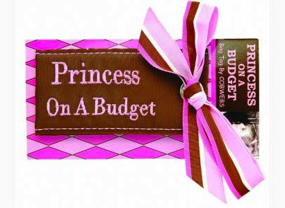 Cobwebs Luggage Tag: 'Princess On A Budget' - Jetsettr.com.au - 2