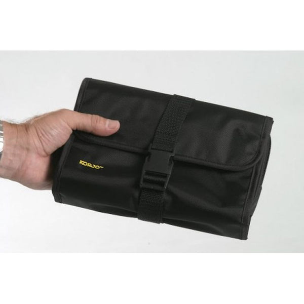 Korjo Toiletry Bag w/ Hanging Hook: Black - Jetsettr.com.au