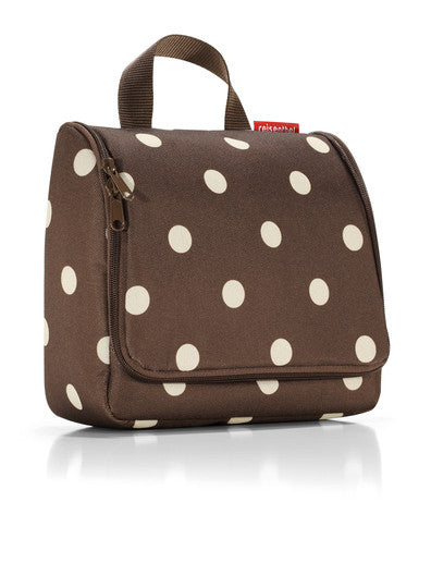 Reisenthel Travelling Toiletry Bag: Mocha Dots - Jetsettr.com.au - 1