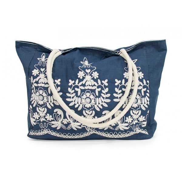 Annabel Trends Claire Tote Bag: Navy - Jetsettr.com.au