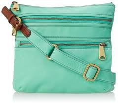Fossil Explorer Crossbody Bag: Mint - Jetsettr.com.au - 1