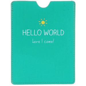 Happy Jackson Passport Sleeve: Hello World! - Jetsettr.com.au - 1