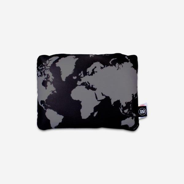 DQ Co. Cool Black 2 In 1 Travel Pillow: World Map - Jetsettr.com.au - 4