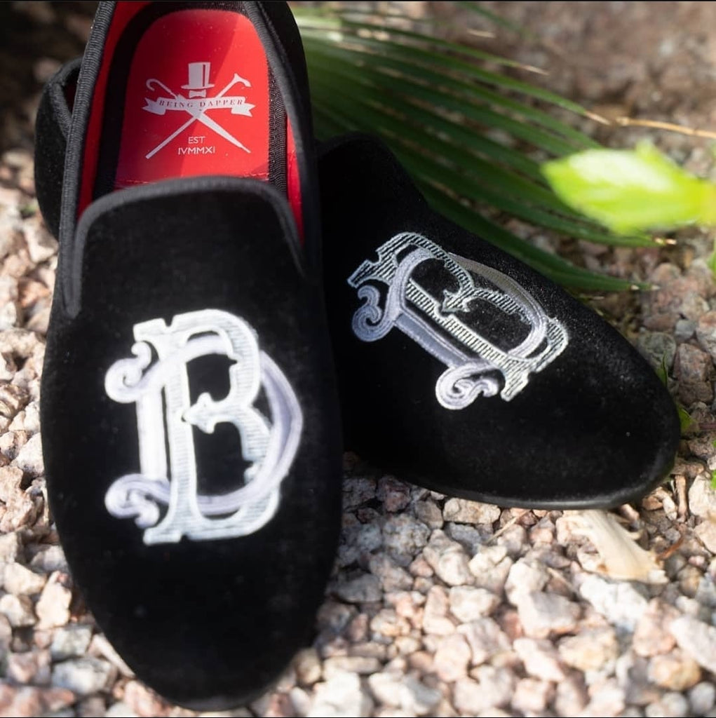 Being Dapper Monogramed Slippers