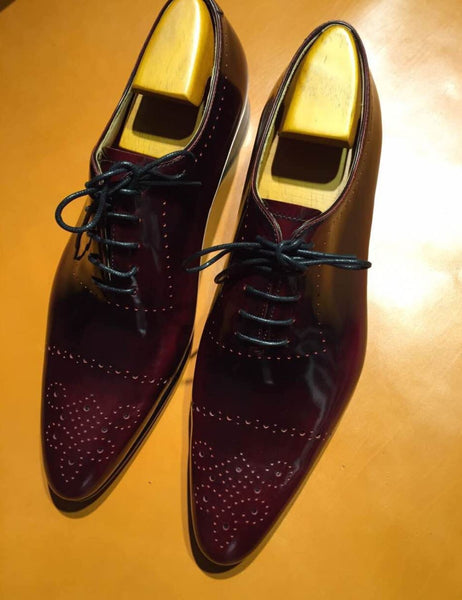 Ox Blood Leather Derby Dress Shoes