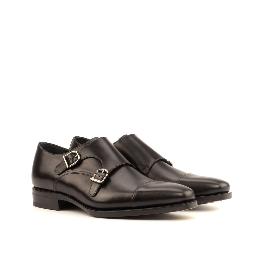 Black Double Monkstrap Shoes