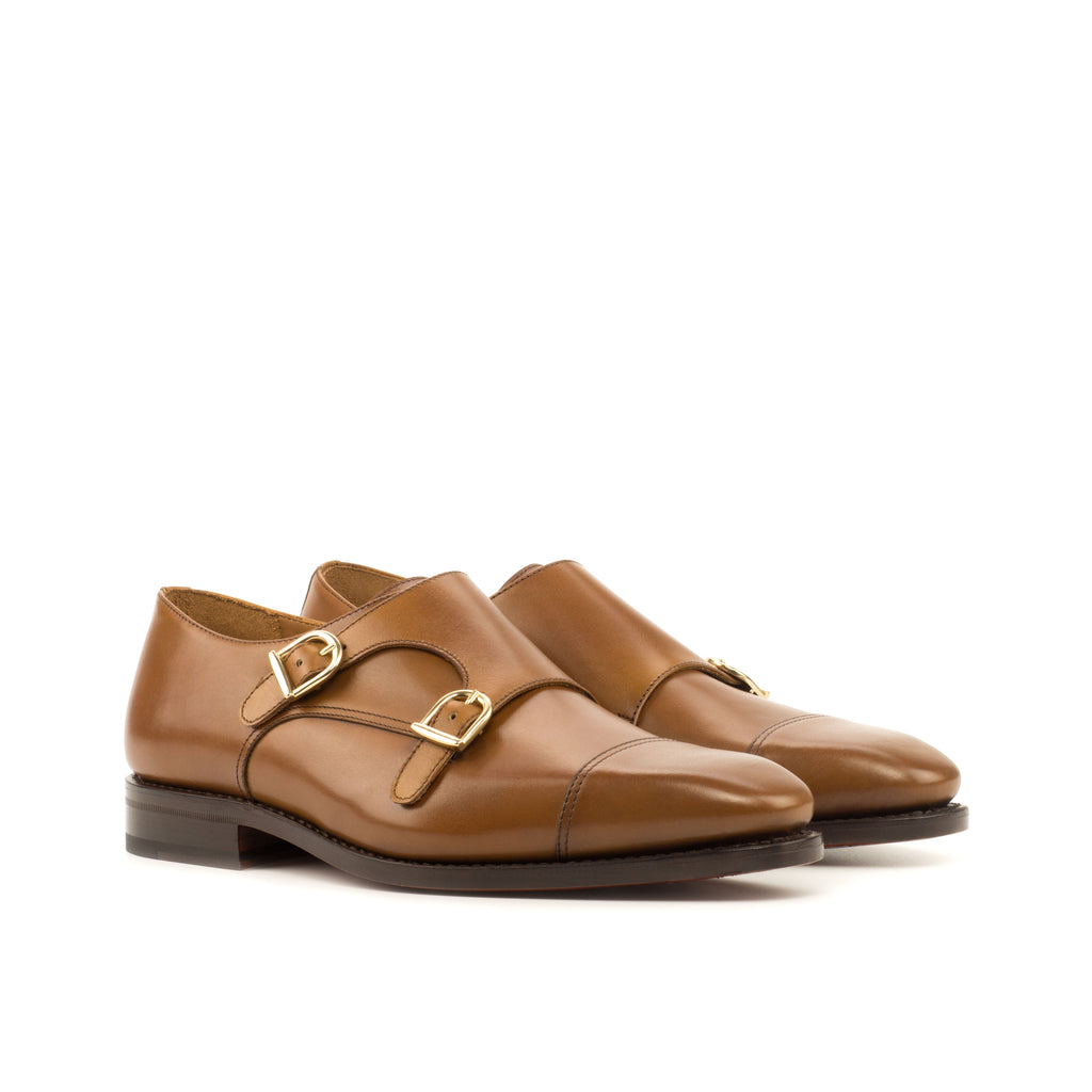 Brown Double Monkstrap Shoes