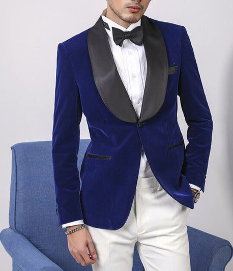 Velvet Royal Navy Wide Shawl Tuxedo
