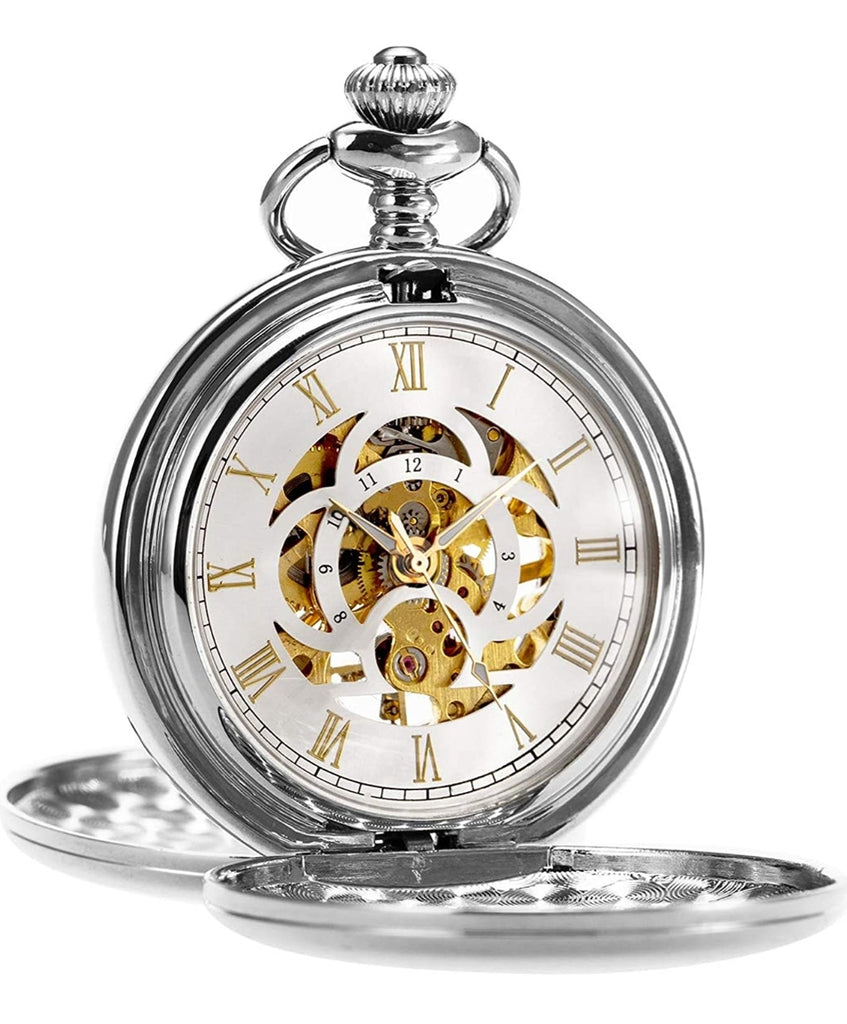 Simple Elegant Mechanical Pocket Watch