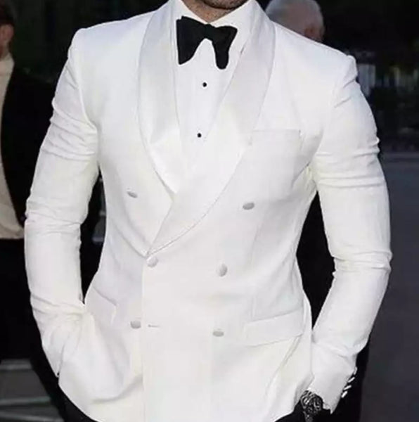 White Double Breasted Tuxedo