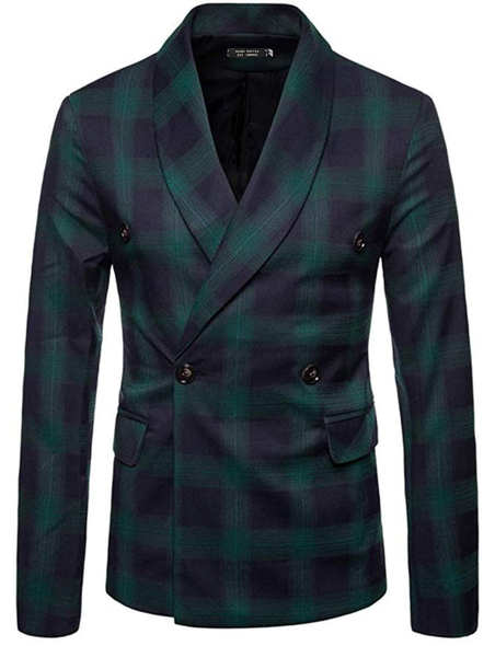 Black Watch Tartan Double Breasted Blazer