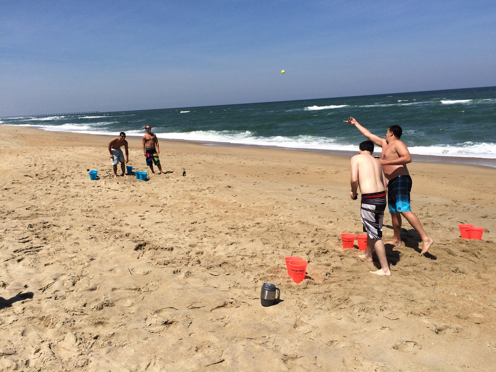 Kids Beer Pong at the Beach