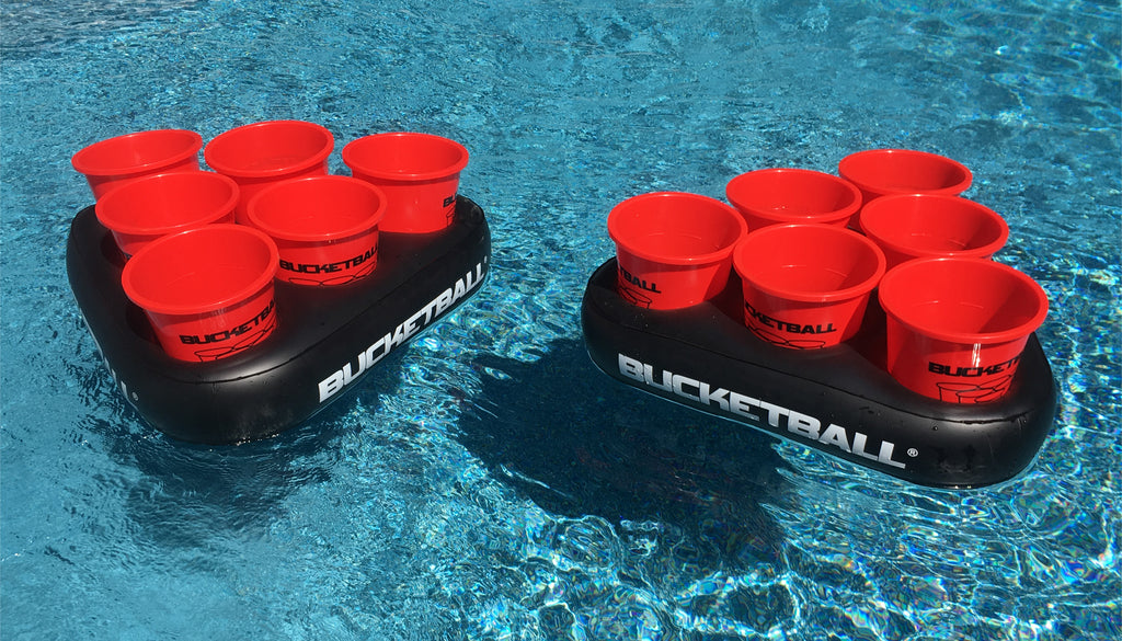 Giant Beer Pong Racks on Water