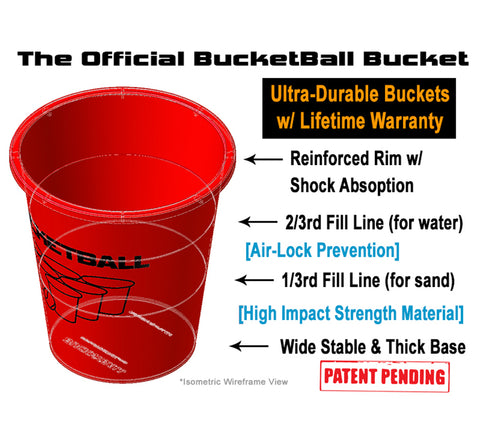 Jumbo Pool Pong Giant Beer Pong™ Bucket Details