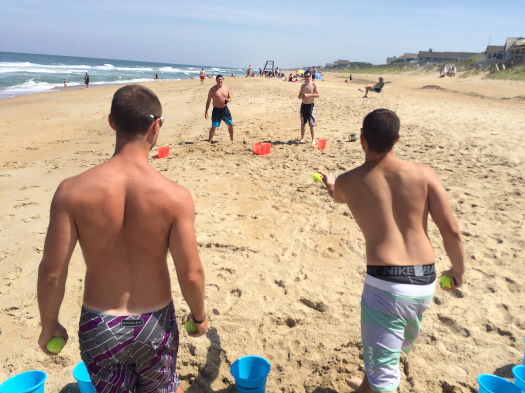 Tailgate Yard Pong on the Beach