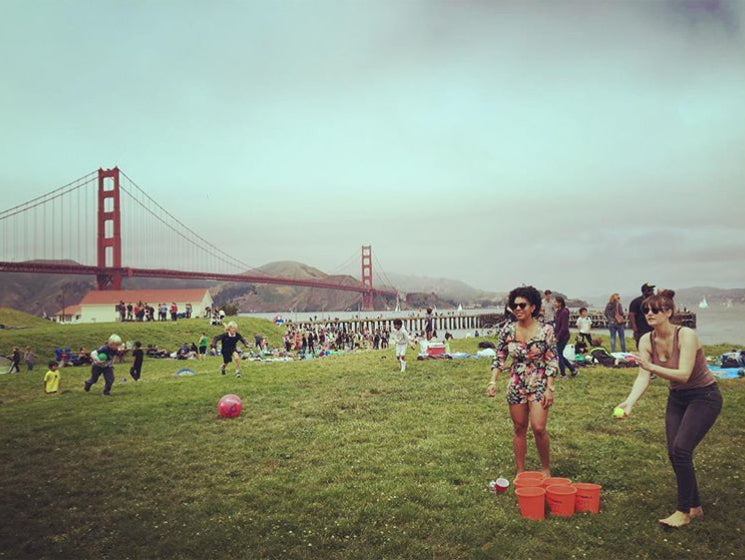 Giant Beach Pong at Golden Gate