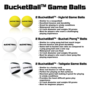 BucketBall - Team Color Edition - Party Pack (Black/Silver) - BucketBall